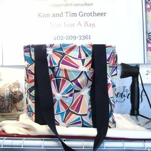 Thirty One Small Utility Tote -  Pinwheel Party